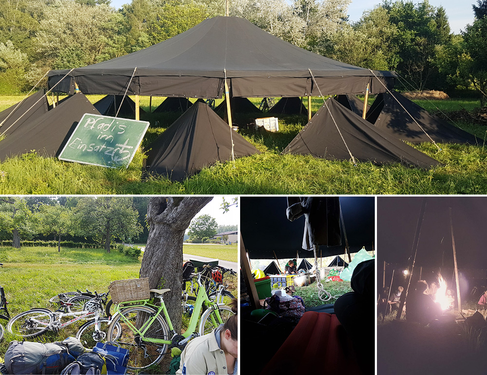 Alles in einem Zelt